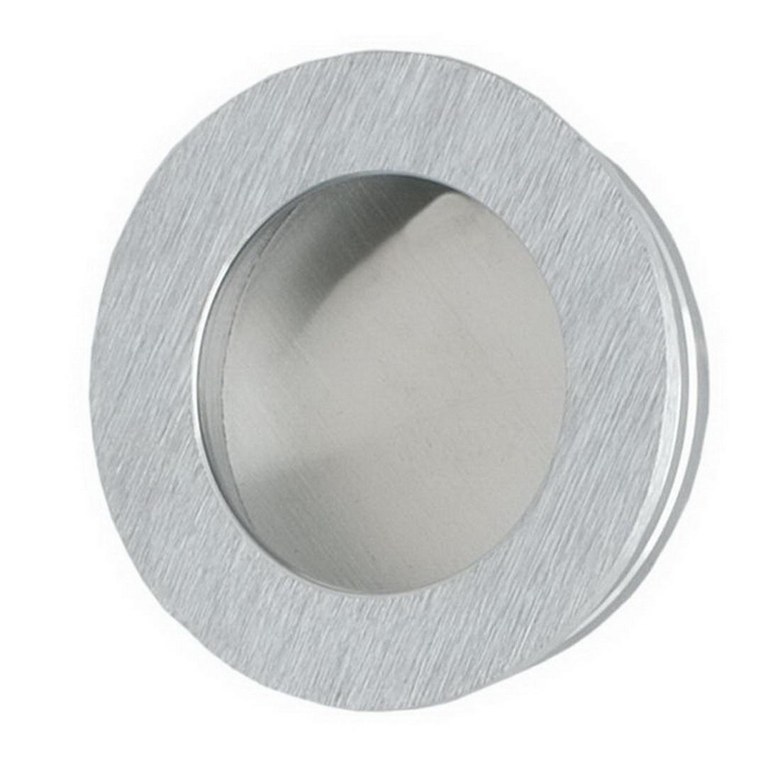 Round Flush Finger Pull 50mm Satin Chrome 744SC50