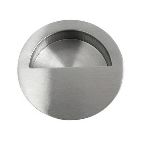 Round Flush Finger Pull 90mm Stainless Steel 745SS90