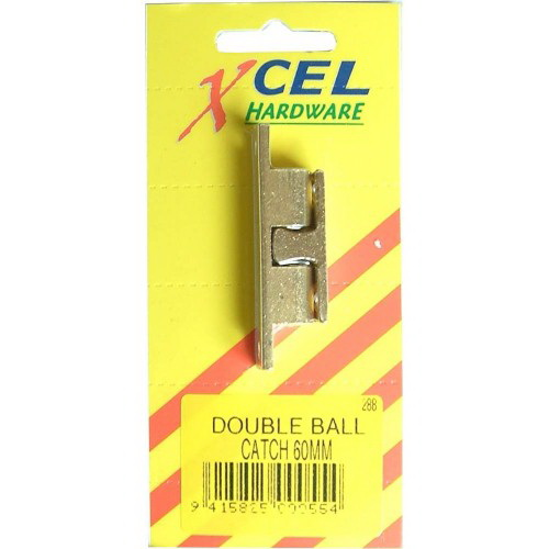 Double Ball Catch 50mm Brass