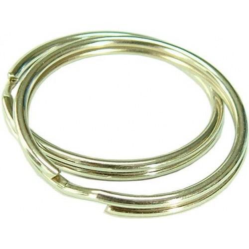 Split Key Ring 32mm Spring Steel Nickel Plated 4 Card