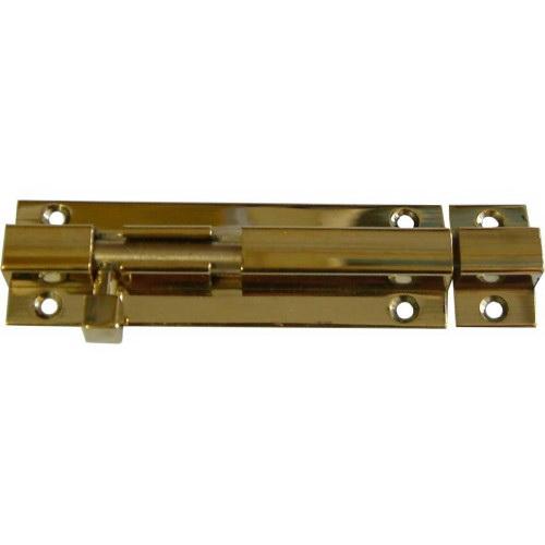 Socket Bolt 75mm Polished Brass Carded LION75PB