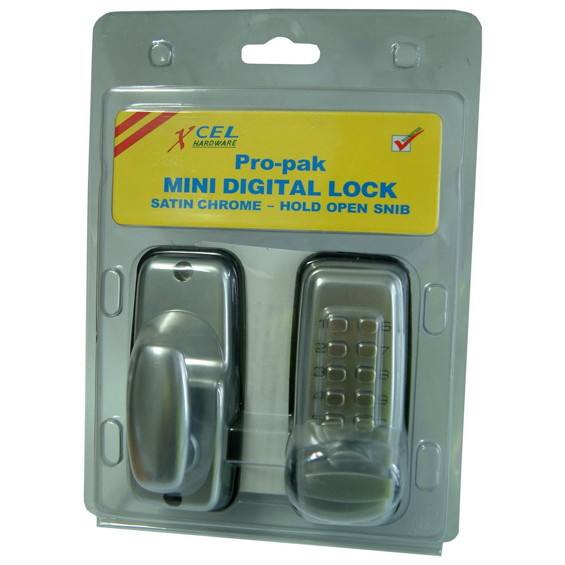 Mini Digital Entrance Lock Satin Chrome Plate DIGIMINI