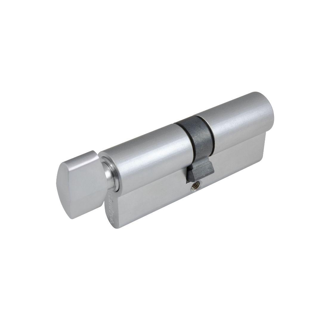 70mm 5 Pin Euro Cylinder Key/Snib Satin Chrome
