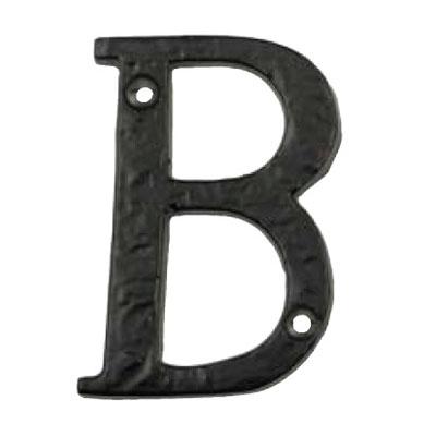 Alphabet B 76mm Black Iron Matt Black