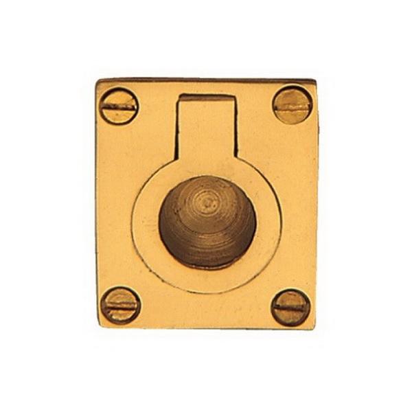 Flush Ring 50 x 37mm Polished Brass 5154-PB