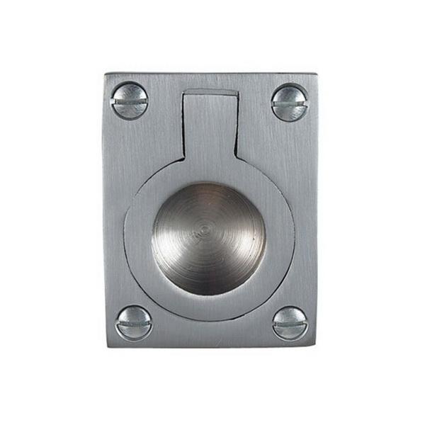 Flush Ring 40 x 33 x 13mm Satin Chrome 5177-SC
