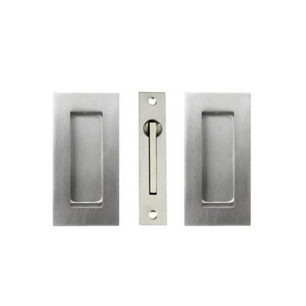 Square Sliding Door Flushpull Kit Stainless Steel