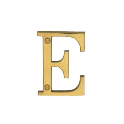 Victorian Style Alphabet E 50mm Polished Brass