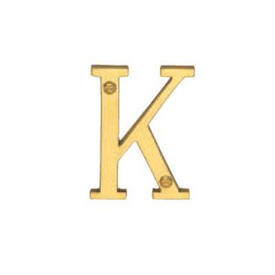 Victorian Style Alphabet K 50mm Polished Brass