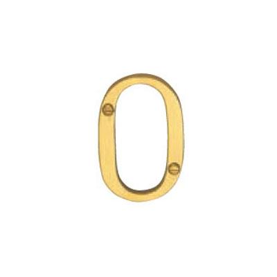 Hardware Victorian Letter O Polished Brass 50mm