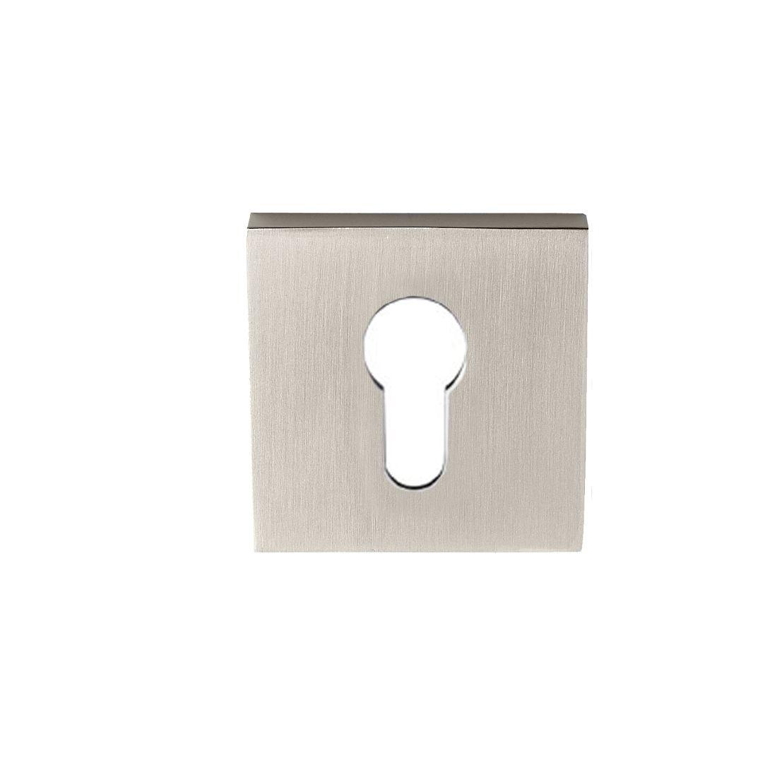 Square 55mm Euro Escutcheon Brushed Nickel
