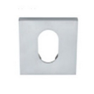 Square Euro Escutcheon 55 x 55 x 11mm Satin Chrome 8102E-SC