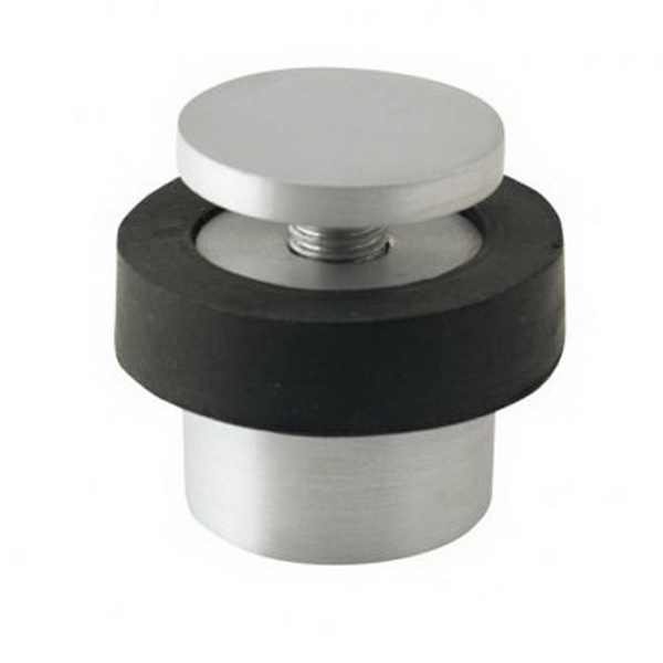 Floor Mount 2-Piece Door Stop Brushed Nickel
