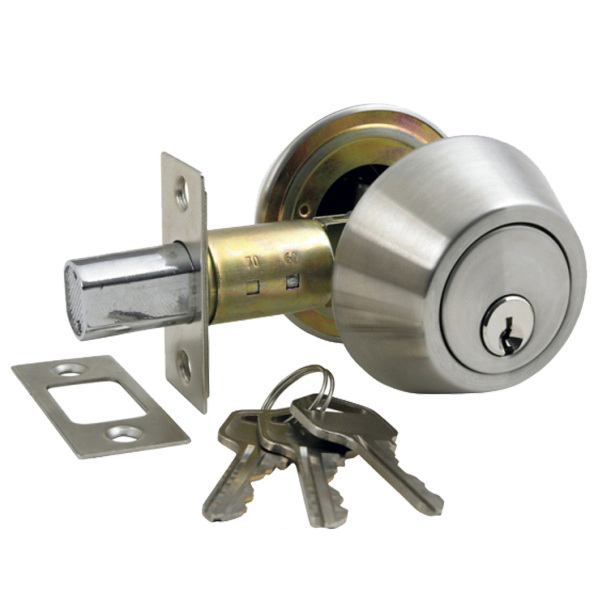 Double Cylinder Deadbolt Stainless Steel