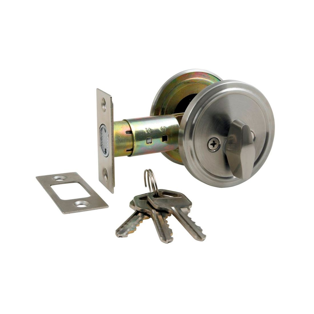 Key/Turn Deadbolt KA Stainless Steel
