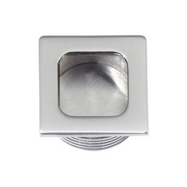 Square Edgepull 25 x 25mm Aluminum Satin Chrome