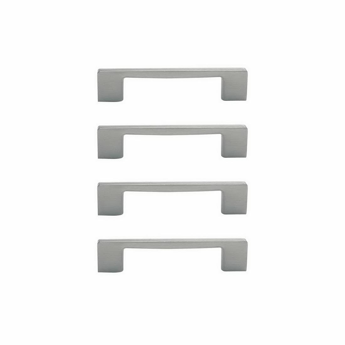 Marco Cabinet Handle 96mm Zinc Die-Cast Brushed Nickel 4 pack 6336-4-BN