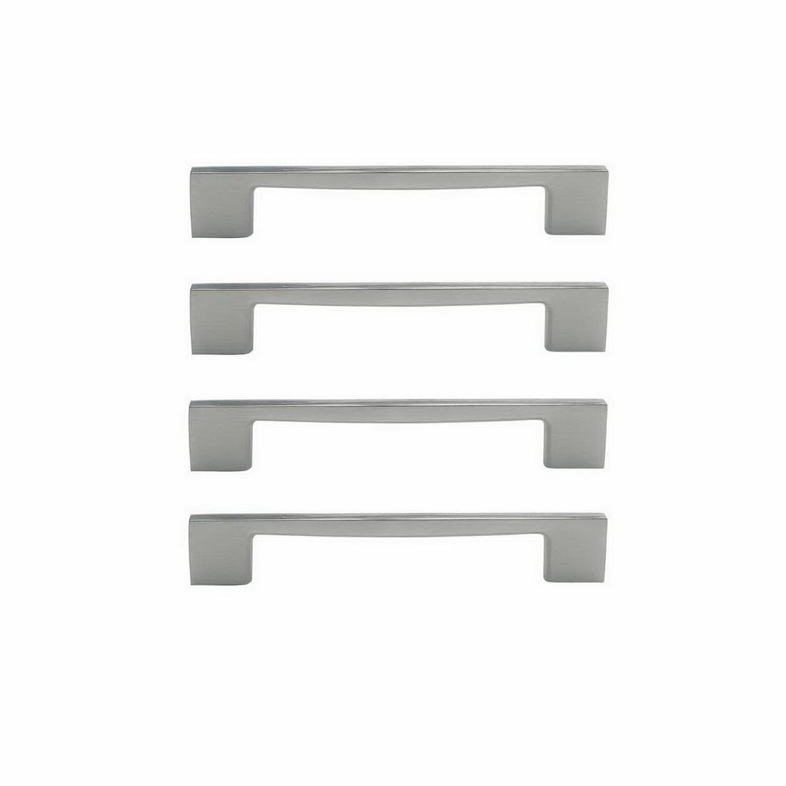 Marco Cabinet Handle 128mm Zinc Die-Cast Brushed Nickel 4 pack 6337-4-BN