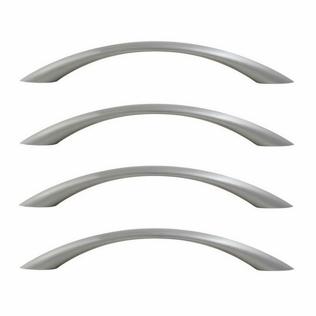 Primo Bow Cabinet Handle 128mm Brushed Nickel 4 pack 6358-4-BN