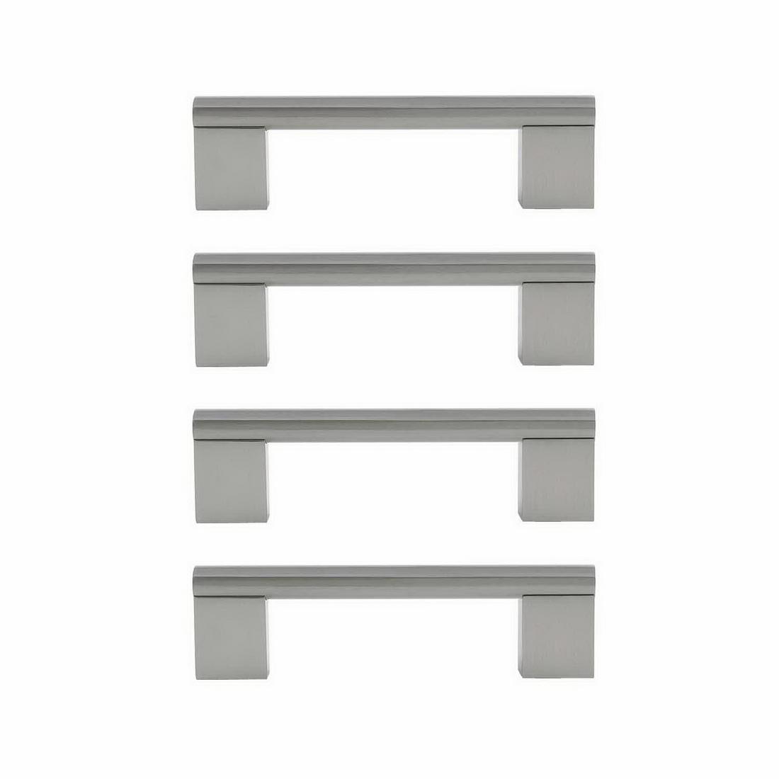 Minerva Cabinet Handle 128mm Zinc Die-Cast Brushed Nickel 4 pack 6314-4-BN