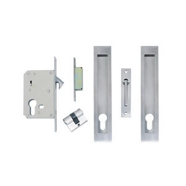 Square Locking Flushpull Kit 200 x 37mm Stainless Steel