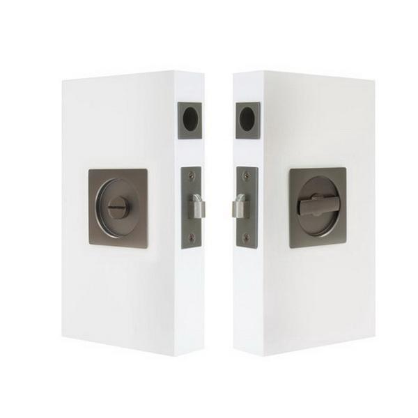 Cavity-Suite Square Sliding Privacy Kit 65 x 65mm 60mm Backset Matt Black 5331-BLK