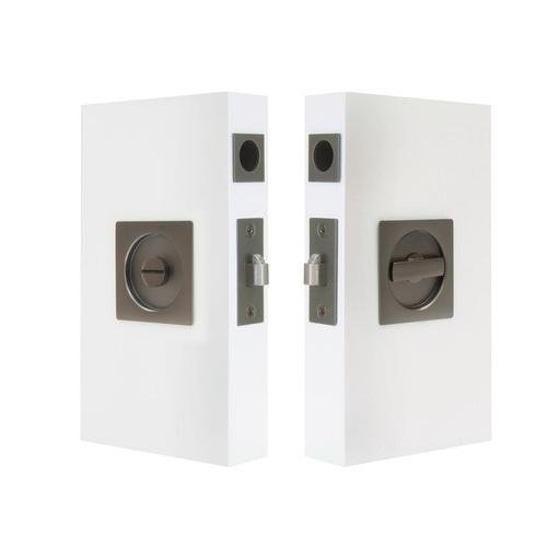 Square Cavity-Suite Privacy Kit Graphite Nickel