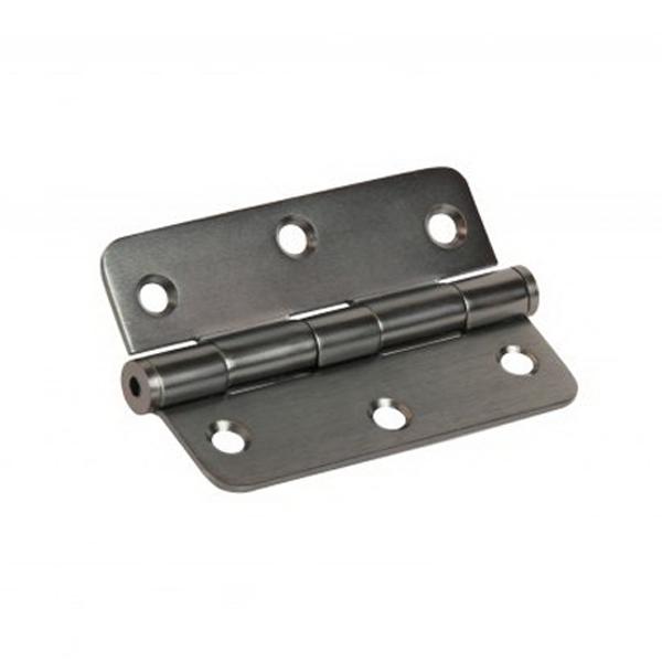 89mm x 60mm x 2mm Loose Pin Radius Hinge Graphite Nickel