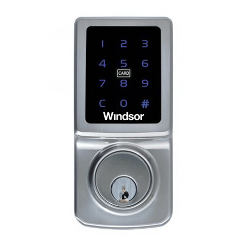Touchscreen Card Entry Deadbolt Brushed Nickel