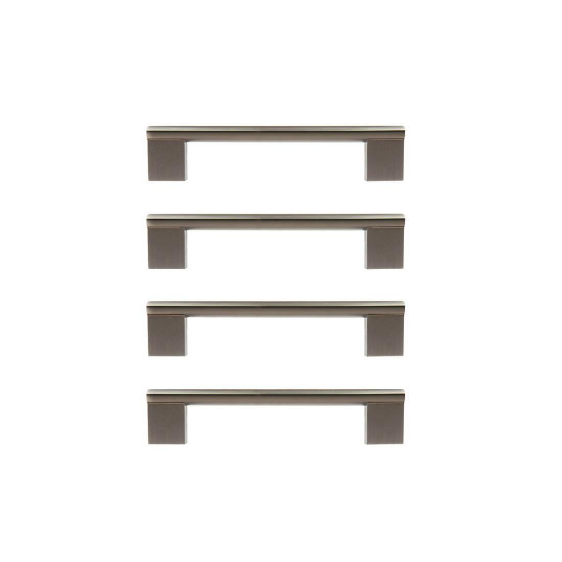 Minerva Cabinet Handle 96mm Zinc Die-Cast Matt Black 4 pack 6413-4-BLK