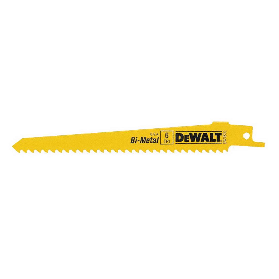 6 x 3/4 inch 6TPI Universal Shank Reciprocating Saw Blade Bi-Metal 5 Pack