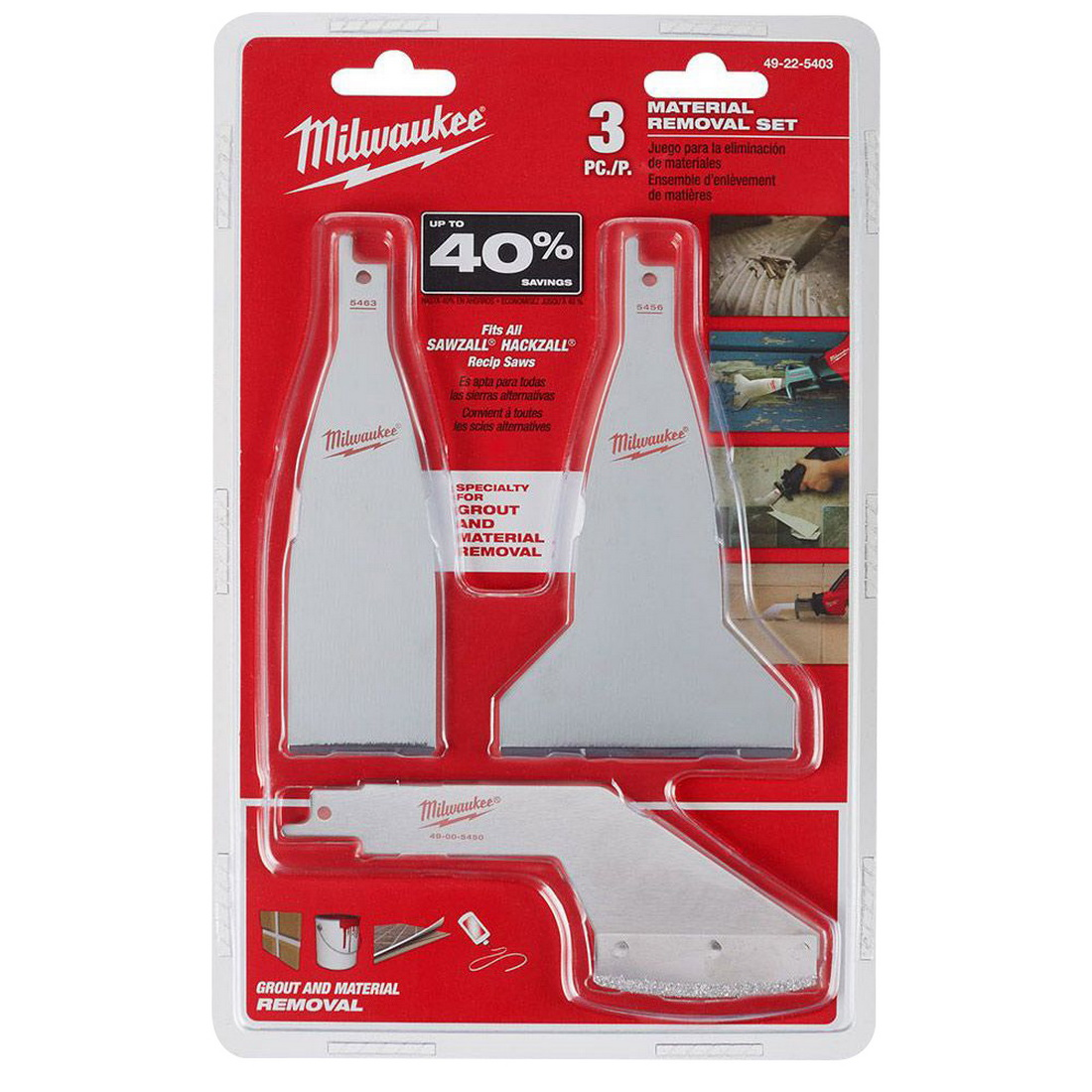 Sawzall Material Removal Blade Set 3 Pack