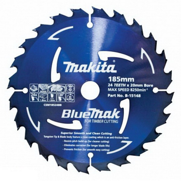 185 x 20mm 24TPI Circular Saw Blade