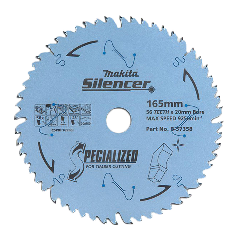 Efficut Circular Saw Blade 165mm Tungsten Carbide