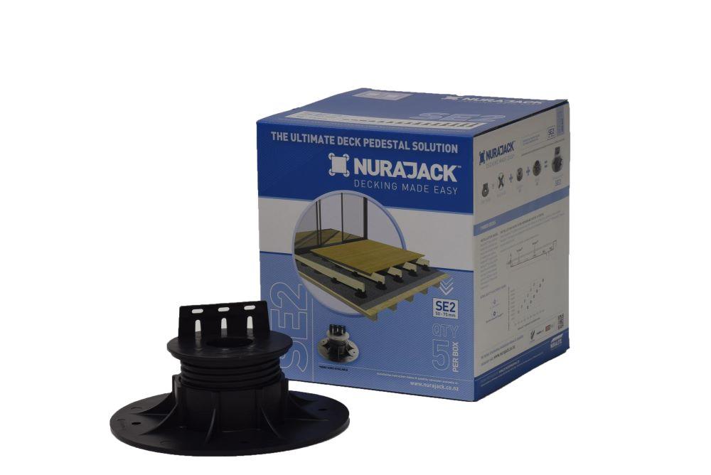 Joist Pedestal Swivel Head Jack 50mm - 75mm 5 Pack NJSE02-JB5
