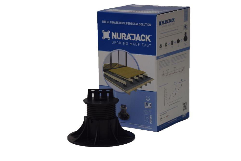 Joist Pedestal Swivel Head Jack 75mm - 120mm 5 Pack NJSE03-JB5