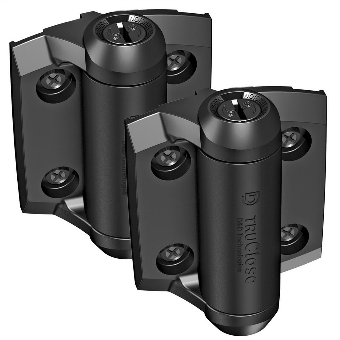 Truclose Self-Closing Pool Metal Gate Hinge 97 X 64mm Black