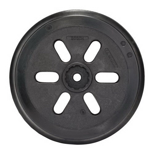 150mm Medium-Hard Sanding Pad Rubber Backing Black For  Orbital Sander