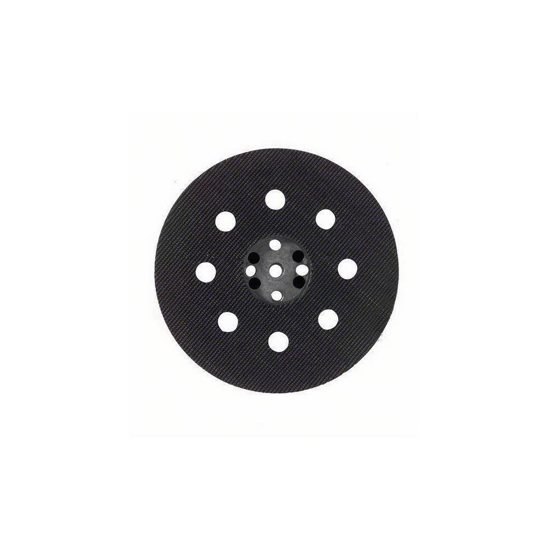 115mm Medium-Hard Orbital Sander Rubber Backing Pad Black