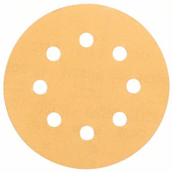 8-Hole C470 Random Orbital Sanding Disc For Wood 115mm 120 Grit 5 pack 2608605061