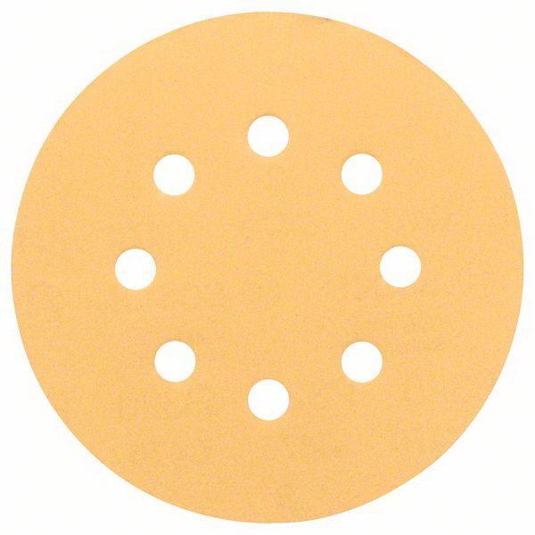 8-Hole C470 Random Orbital Sanding Disc For Wood 125mm 120 Grit 5 pack 2608605071
