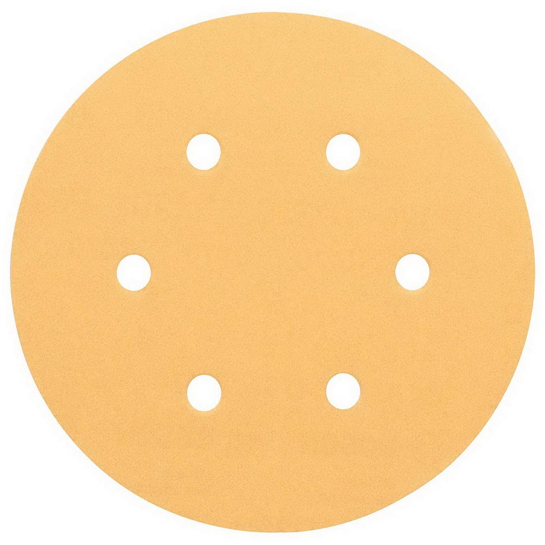 6-Hole C470 Random Orbital Sanding Disc For Wood 150mm 120 Grit 5 pack 2608605089