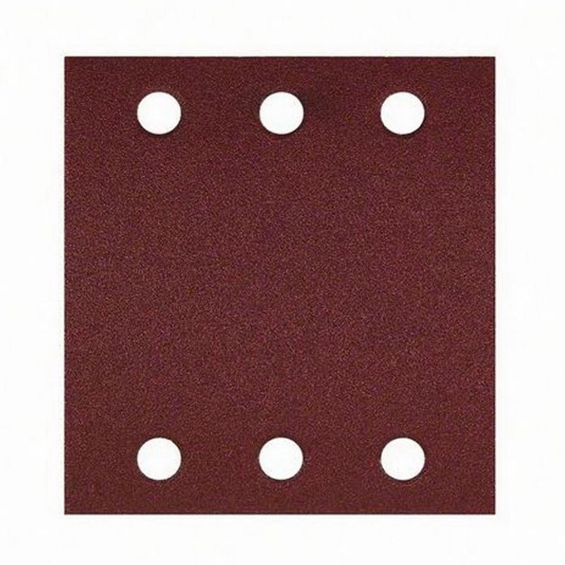 6-Hole Random Orbital Sanding Sheet For Wood 107 x 115mm 80 Grit 10 pack 2608607457