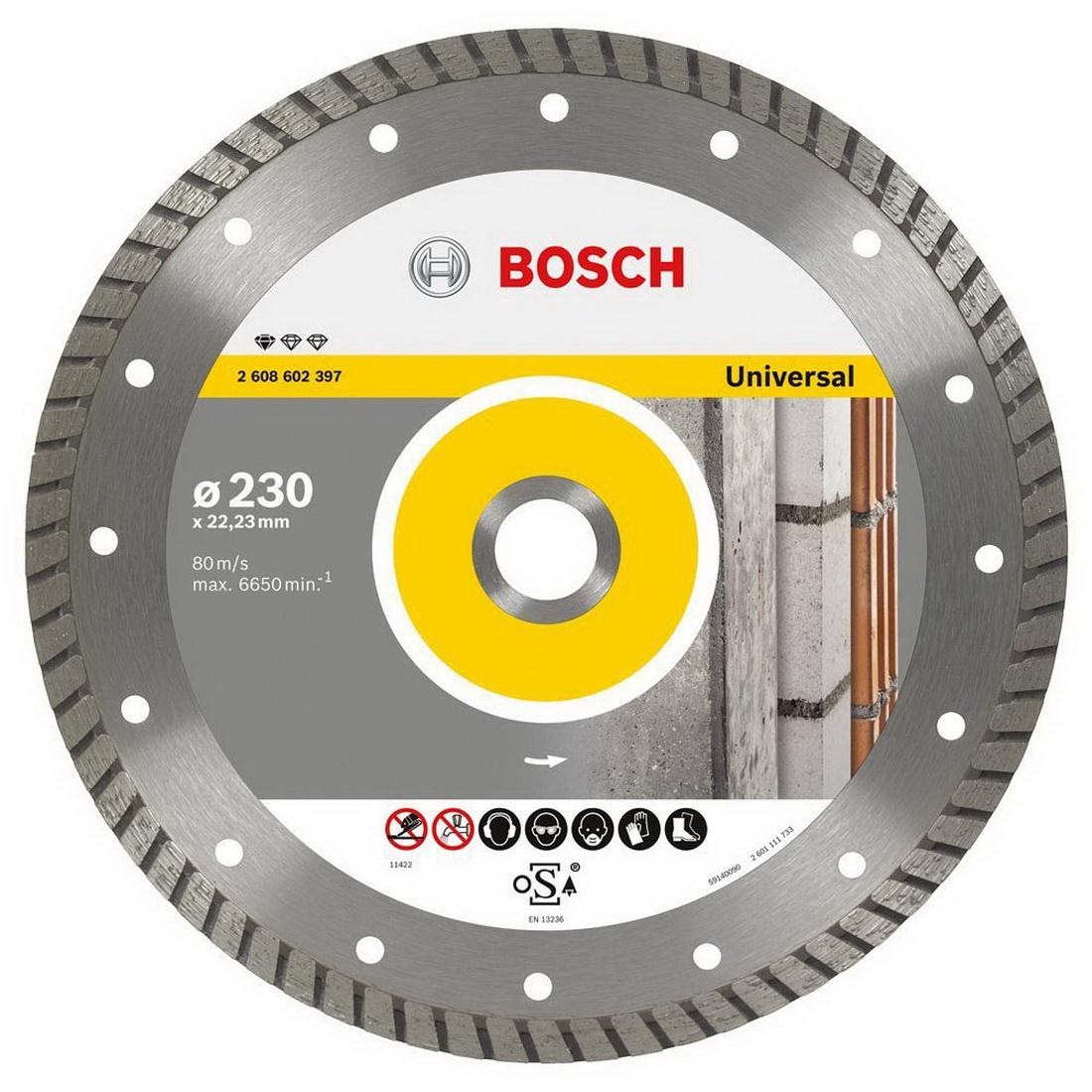 Professional Diamond Cutting Disc 230 x 22.23 x 2.5 x 10mm 2608602397