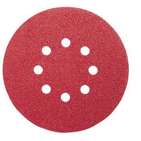 8-Hole Random Orbital Sanding Disc For Wood 150mm 80 Grit 5 pack 2608608322