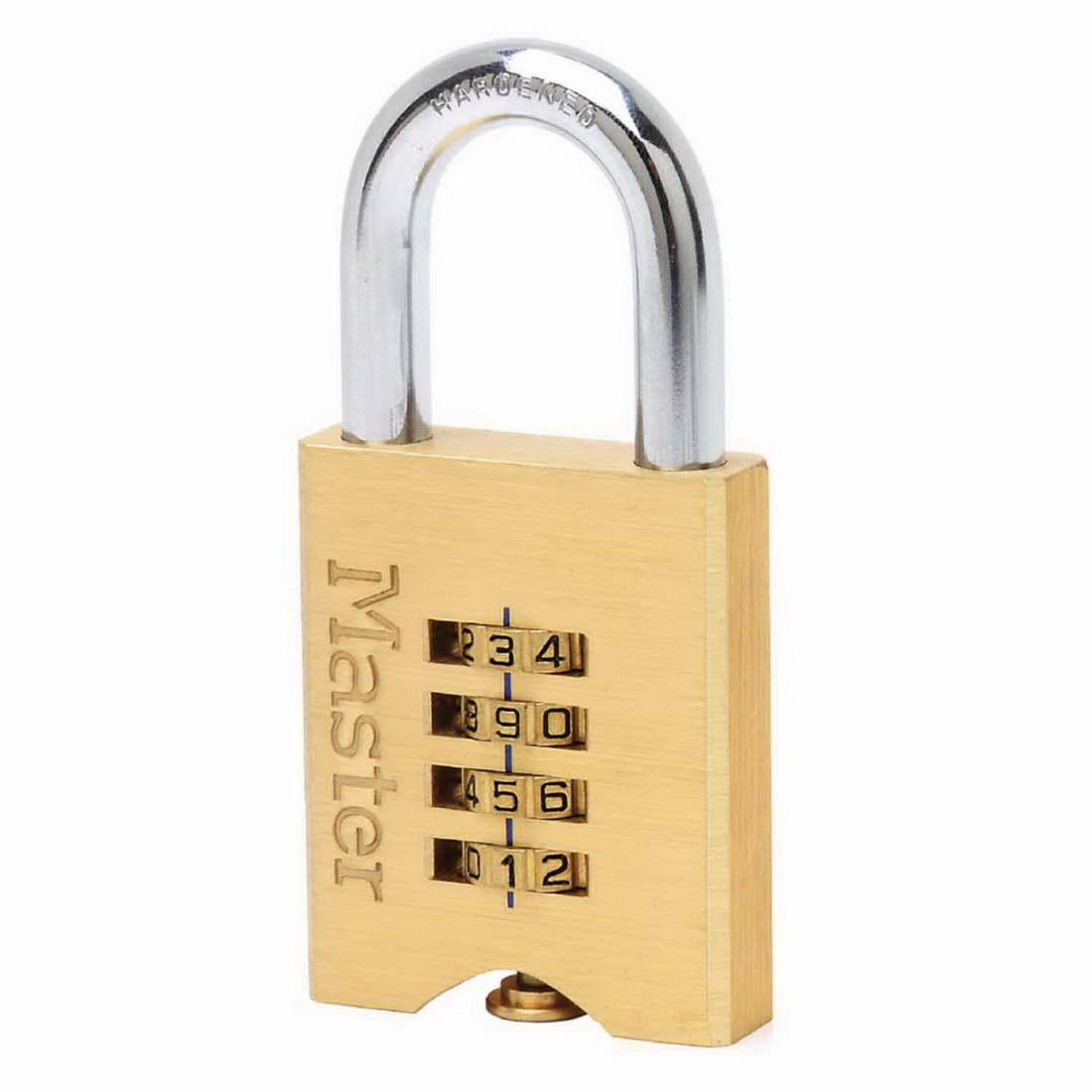 No 651 Combination Reset Padlock 50mm Solid Brass 651DAU