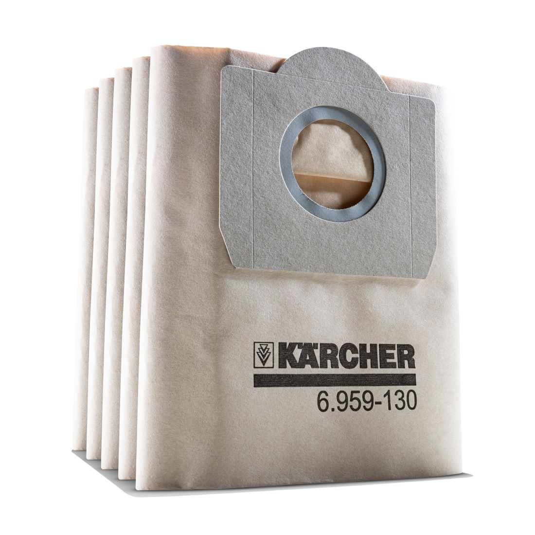 High-performance 2-Ply Paper Filter Bag For MV3 Vaccum 233 x 190 x 10mm 5 pack 6.959-130.0