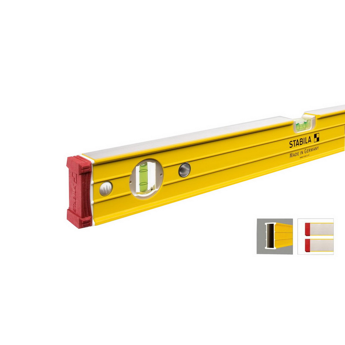 1200mm Type 96-2 3 Vial Spirit Level Aluminium