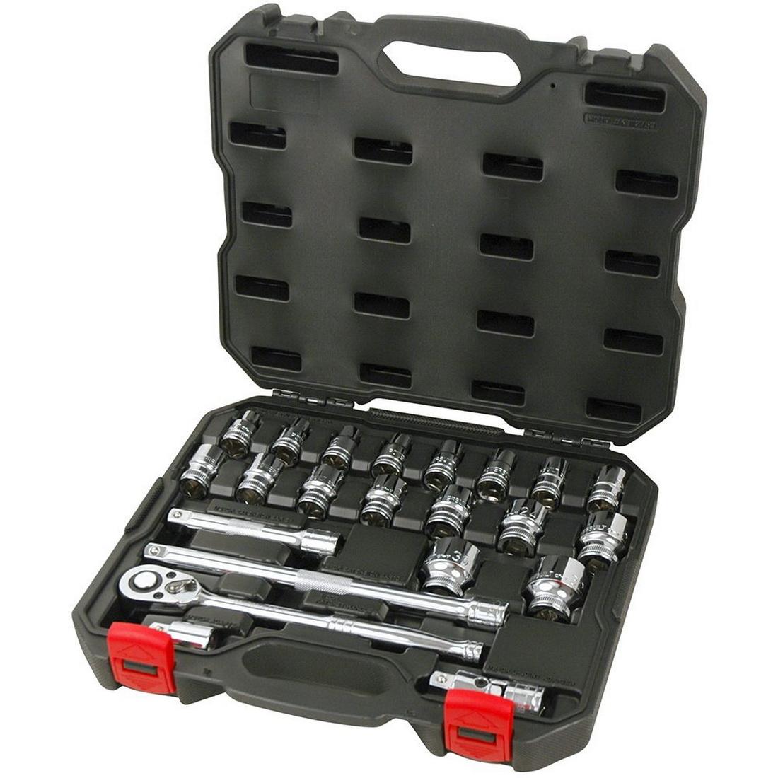 23 Piece Metric Socket Set 1/2 Inch Drive