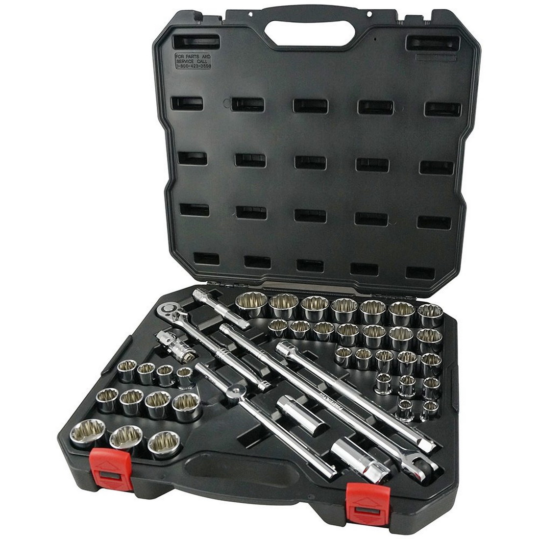 44 Piece Metric/Imperial Comb Socket Set 1/2 Inch